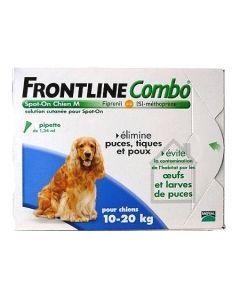 Frontline Combo Pour Chien de 10 à 20kg 3 Pipettes
