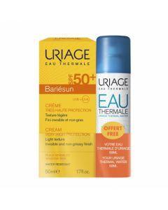 Uriage Bariésun Crème SPF50+ 50ml + Eau Thermale 50 ml Offerte