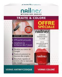 Novodex Nailner Pinceau 2en1 5ml + Vernis Coloré 8ml Offert