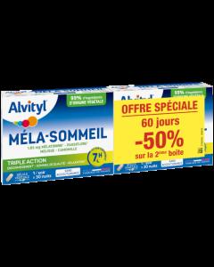 Alvityl Méla-Sommeil Lot de 2x30 Gélules Offre Spéciale -50% Sur la 2ème Boite