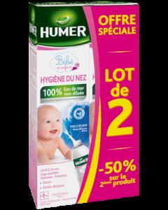 Humer Bébé et Enfant Hygiène du Nez 100% Eau de Mer Lot 1+2ème à -50% 2x150ml