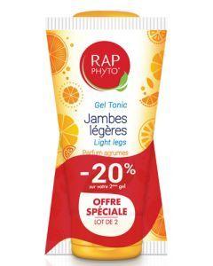 Rap Phyto Gel Fraîcheur Jambes Légères Parfum Agrume Duo 2x150 ml -20% sur le 2ème
