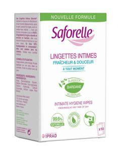 Saforelle Lingettes Intimes Biodégradables 10 sachets individuels