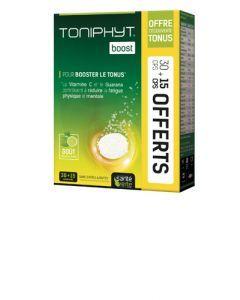 Santé Verte Toniphyt Boost Citron Lot 30 Comprimés Effervescents + 15 Offerts