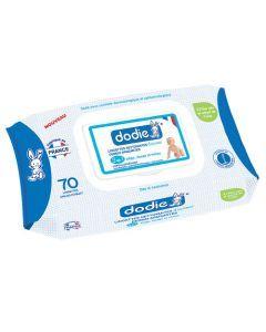 Dodie Lingettes Nettoyantes Dermo-Apaisantes Douceur 3 en 1 70 Lingettes