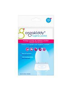 Orgakiddy Protège Cuvette de Toilettes Jetable Classique x10