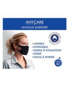 Anycare Masque Barrière Lavable Adulte Noir