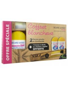 Bicare Gifrer Plus Coffret Blancheur Duo Poudre Mentholée + Brosse à dents Offerte