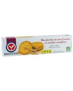 Biosystem Biscuits Bio au Son d'Avoine et Céréales Complètes 132g