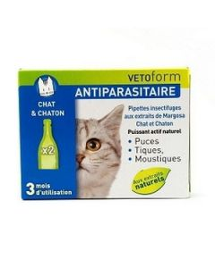 Vetoform Antiparasitaire Pour Chat 2 Pipettes