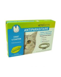 Vetoform Collier Antiparasitaire Chat et Chaton X 1