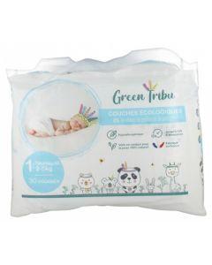 Green Tribu Couches Écologiques Nouveau-Né Taille 1 (2-5kg)