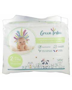 Green Tribu Couches Écologiques Mini Taille 2 (3-6kg)
