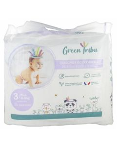 Green Tribu Couches Écologiques Midi Taille 3 (4-9kg)