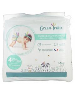 Green Tribu Couches Écologiques Maxi Taille 4 (7-18kg)