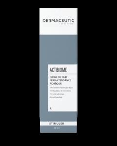 Dermaceutic Stimuler Actibiome Crème Nuit Peau à Tendance Acnéique 40 ml