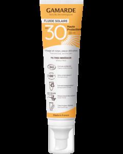 Gamarde Fluide Solaire SPF30 Haute Protection Bio 100ml