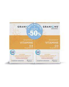 Granions Vitamine D3 60 Gélules Lot de 2