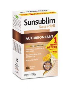 Nutreov Sunsublim Autobronzant Ultra 84 Capsules Dont 1 Mois Offert