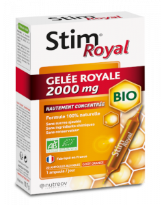 Nutreov Stim Royal Gelée Royale Bio 2000Mg 20 Ampoules