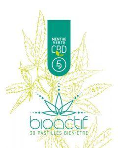 Bioactif Pastilles Bien-Être Bio Menthe Verte CBD 5mg x 30