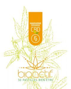 Bioactif Pastilles Bien-Être Bio Mandarine Orange CBD 5mg x 30