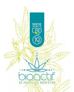 Bioactif Pastilles Bien-Être Bio Menthe Verte CBD 10mg x 30