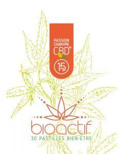 Bioactif Pastilles Bien-Être Bio Passion Chanvre CBD 15mg x 30