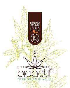 Bioactif Pastilles Bien-Être Bio Passion Réglisse CBD 10mg x 30