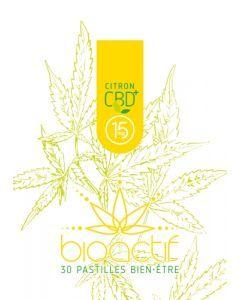 Bioactif Pastilles Bien-Être Bio Citron CBD 15mg x 30