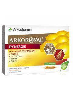 Arkopharma Arkoroyal Dynergie Ginseng, Gelée Royale, Propolis 20 Ampoules