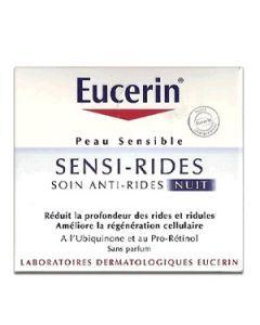 Eucerin Sensi-rides Soin Anti-rides Nuit Pour Peaux Sensibles 50ml