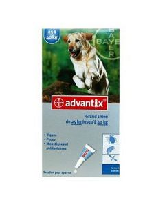 Bayer Advantix Antiparasitaire Grands Chiens de 25kg à 40kg
