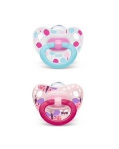 Nuk 2 Sucettes Taille 1 CLASSIC Fille