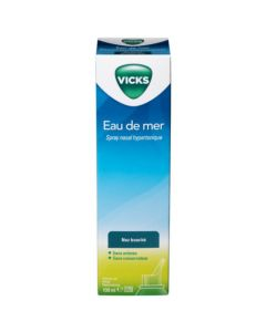 Vicks Eau De Mer Spray Nasal Hypertonique Nez Bouché 100 ml