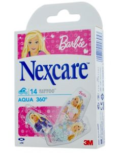 Nexcare Barbie Aqua 360° 14 Tatoo Pansements