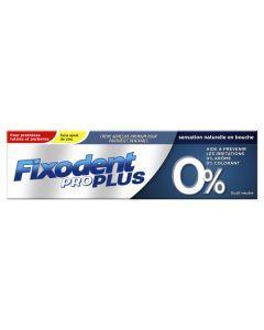 Fixodent Pro Plus Neutre 0 % Crème Adhésive Pour Prothèses Dentaires 40 g