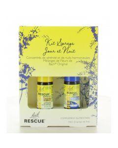 Rescue Kit Sprays Jour et Nuit Mélange de Fleurs de Bach 2 Sprays de 7ml