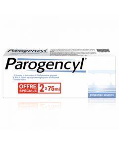 Parogencyl Prévention Gencives Goût Menthe Pâte Dentifrice Lot de 2x75 ml