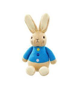 Petit Pouce Factory Peluche crochet 26cm Pierre Lapin Original