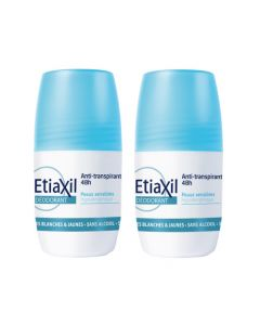 Etiaxil Déodorant Anti-transpirant 48h Roll-On Lot de 2x50ml