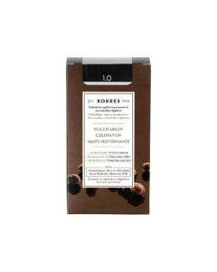 Korres Coloration permanente huile d'argan, noir 1.0 50ML