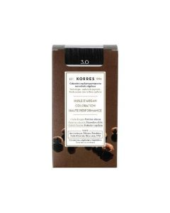 Korres Coloration permanente huile d'argan, châtain foncé naturel 3.0 50ML