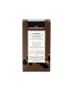 Korres Coloration permanente huile d'argan, châtain naturel 4.0 50ML