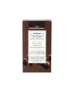 Korres Coloration permanente huile d'argan, châtain clair 5.0 50ML