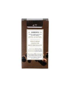 Korres Coloration permanente huile d'argan, châtain naturel marron intense 4.77 50ML