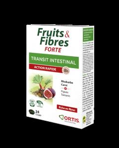 Ortis Transit Intestinal Fruits & Fibres Forte 24 Comprimés