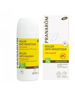 Pranarôm Aromapic Roller Lait corporel Anti-Moustique Bio 75ml