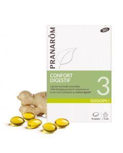 Pranarôm Oléocaps 3 Confort Digestif Bio 30 Capsules