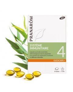 Pranarôm Oléocaps 4 Système Immunitaire Bio 30 Capsules